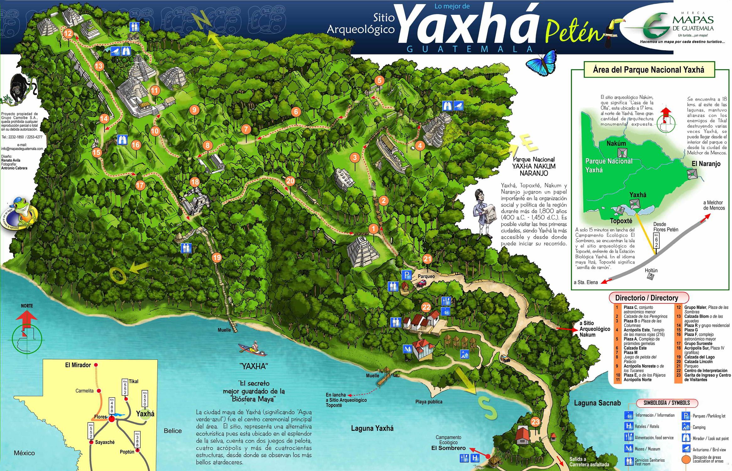 Yaxha mapa