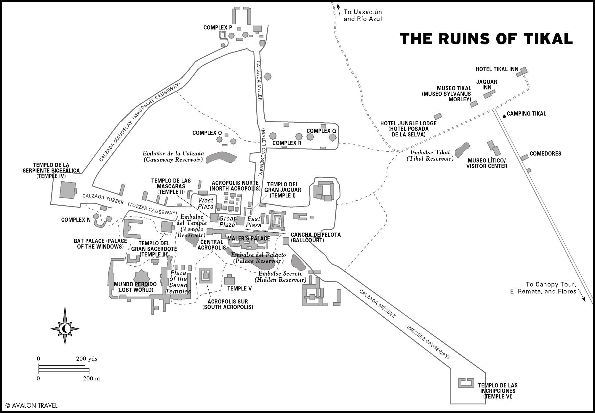 Mapa Tikalu