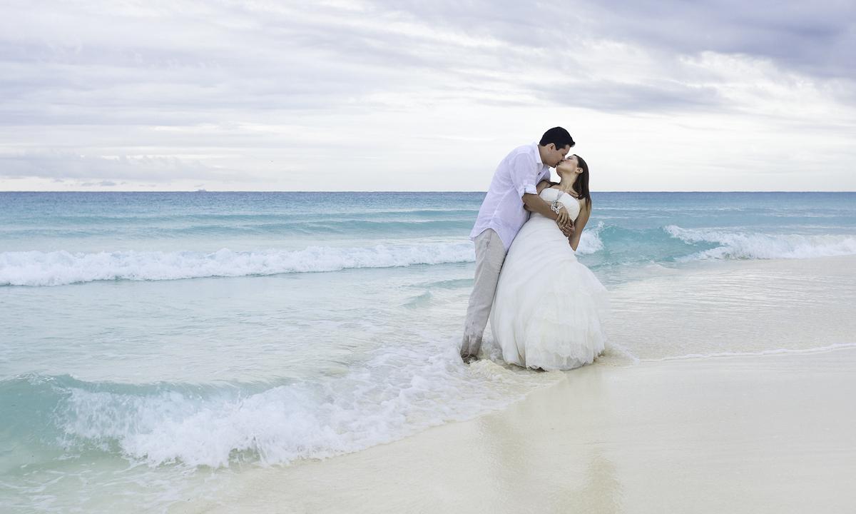 Svatba na mexické pláži
