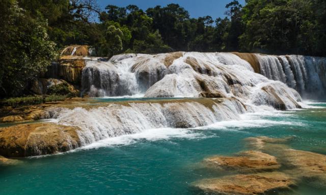 Vodopády Agua Azul